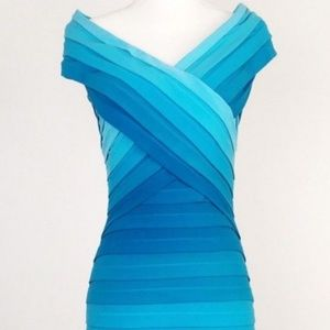 Tadashi Shoji Turquoise Ombre Dress